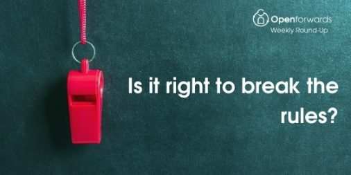 Openforwards Blog: Is it right to break the rules?